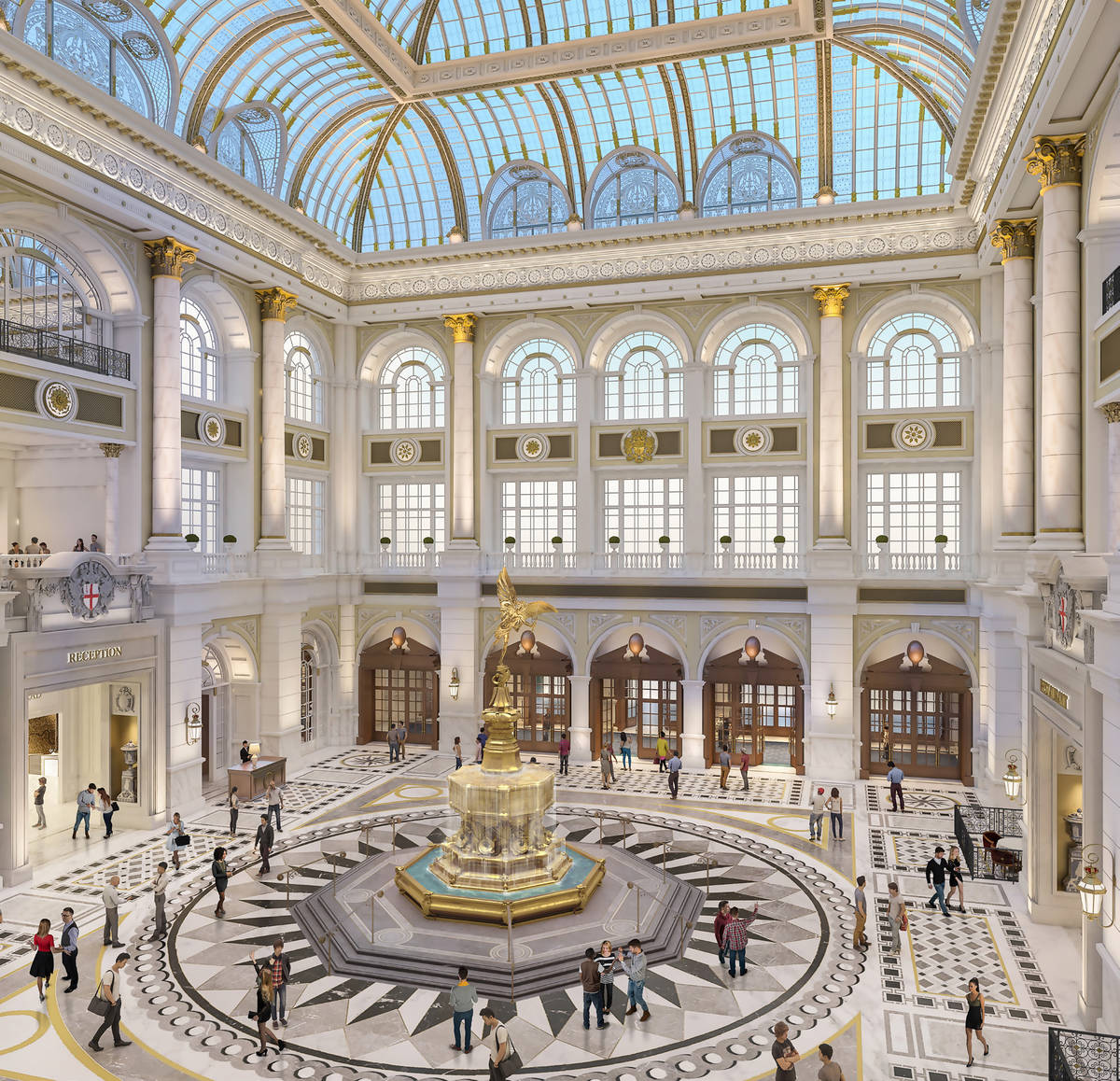 A rendering of the Crystal Palace, one of the new features of Las Vegas Sands Corp's Londoner r ...