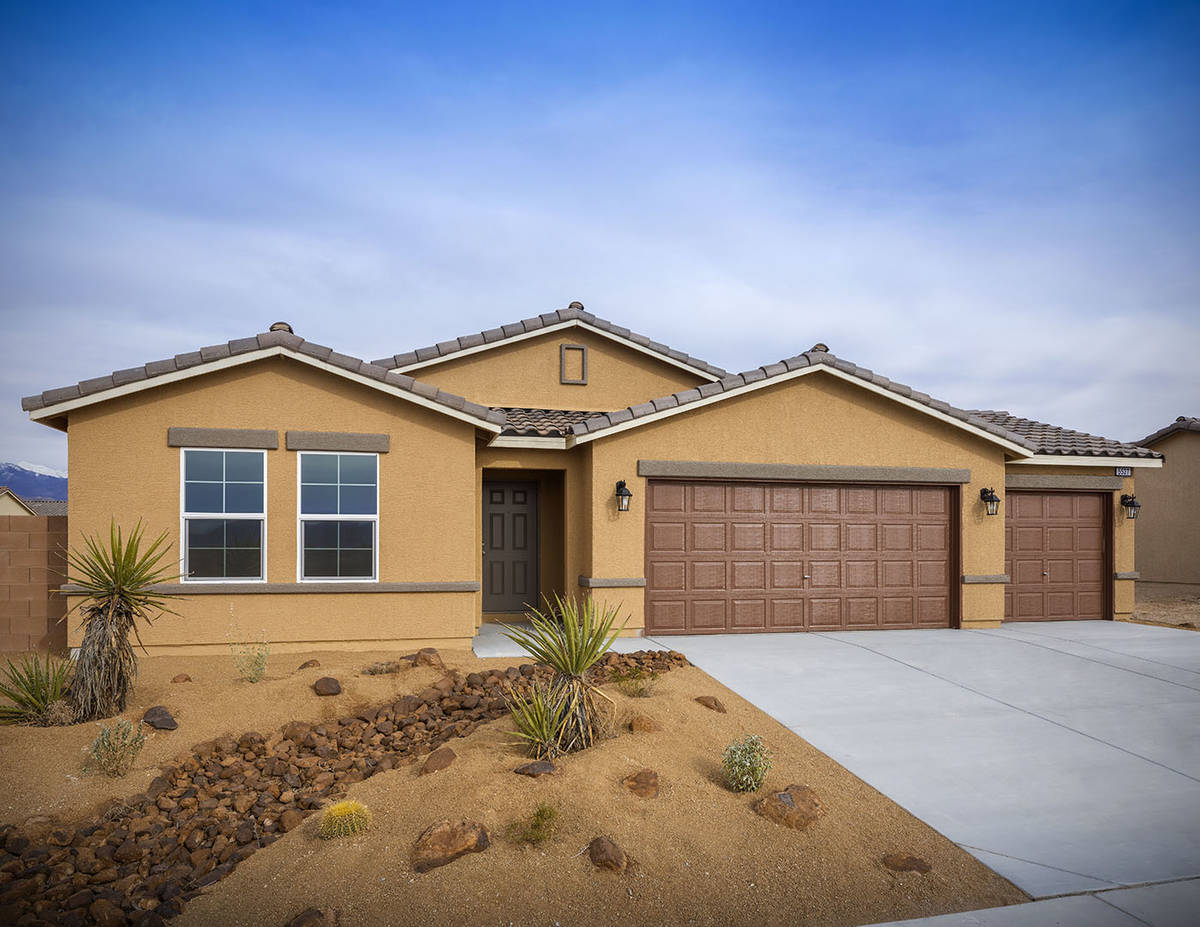 Burson master-planned communities in Pahrump features one and two-story homes. The Beazer Homes ...
