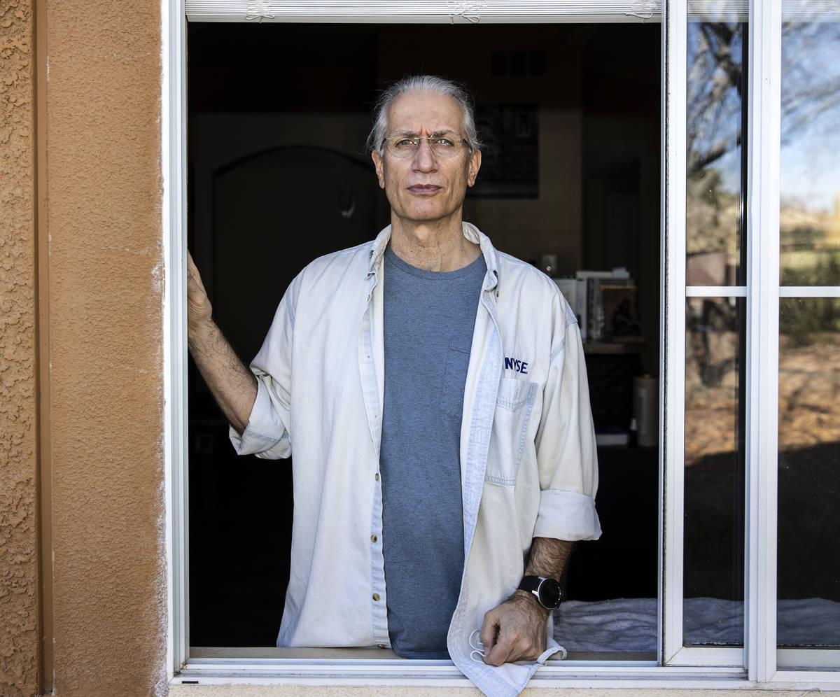 Paul Kovacic Jr., poses for a photo at his Las Vegas apartment, on Thursday, Feb. 11, 2021. Kov ...