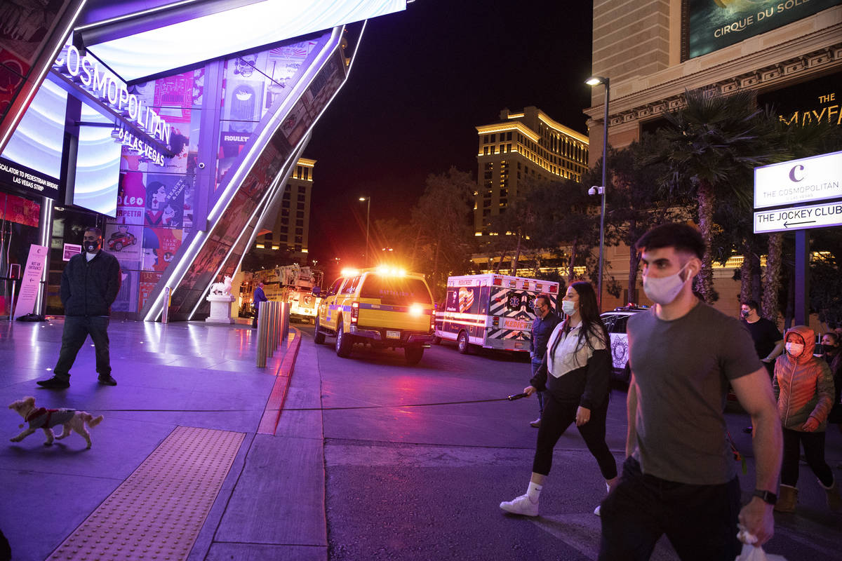 """Emergency crews respond to a 2 alarm """"commercial fire"""" at The Cosmopolitan hotel- ..."""