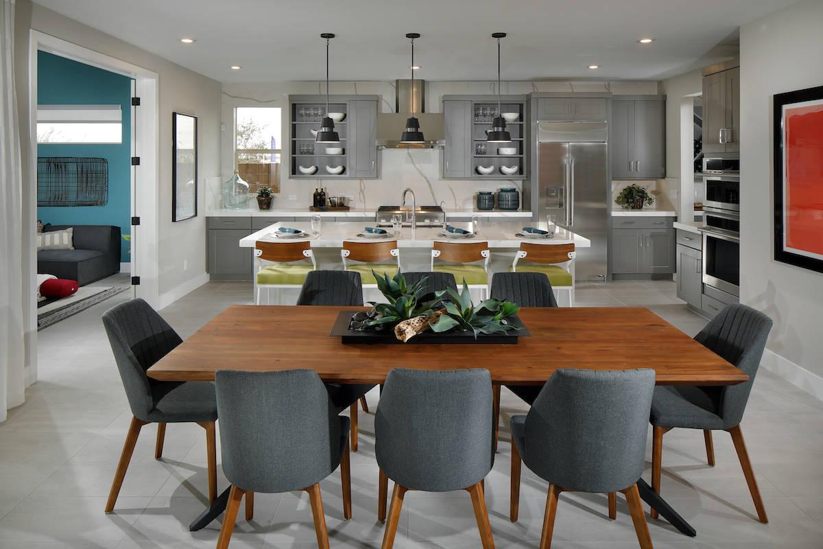 Terra Luna Ridge in Summerlin showcases Tri Pointe Homes' newest floor plans, which include thr ...
