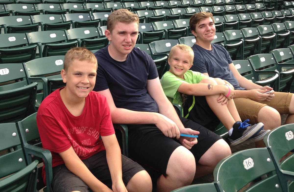 The Smith siblings from left to right are Brock, Brayden, Brody and Bryce. (Scott and Debbie Smith)