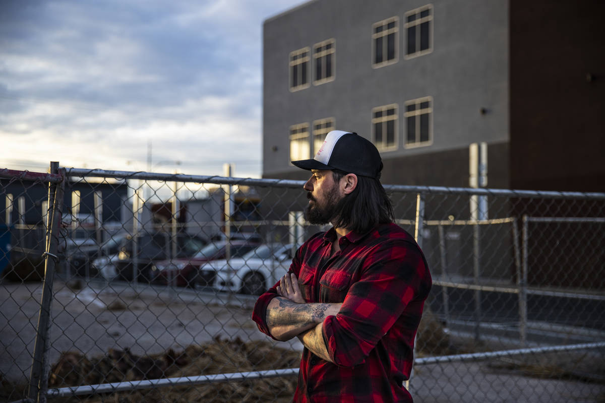 Jason Craig poses by the proposed food truck lot in the Arts District in downtown Las Vegas on ...