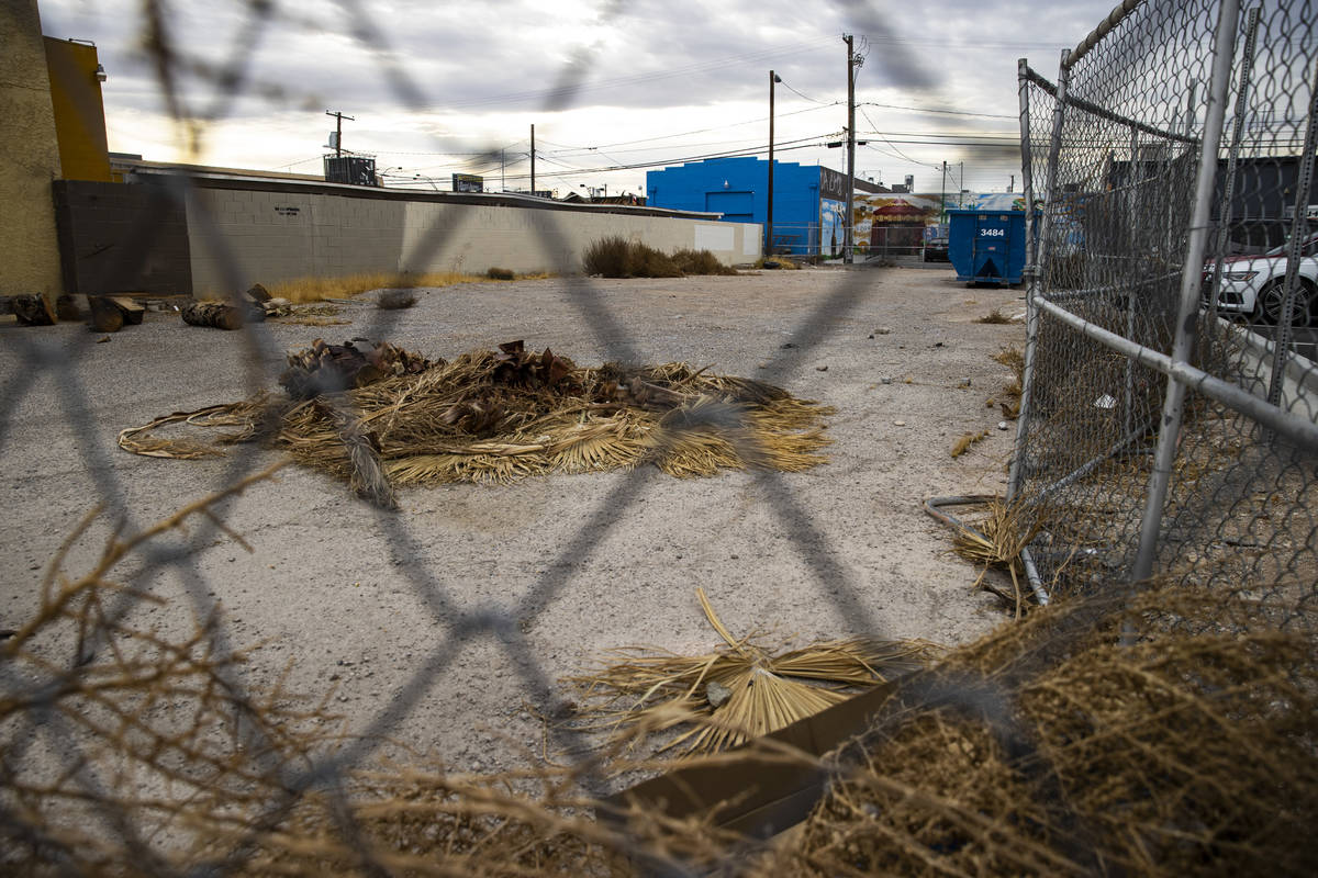 A view of the proposed food truck lot in the Arts District in downtown Las Vegas on Monday, Feb ...