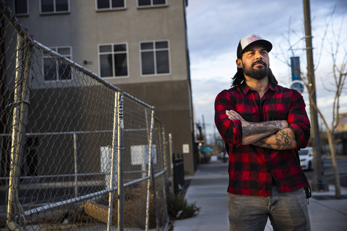 Jason Craig of In The Moment Group stands by the proposed food truck lot in the Arts District i ...
