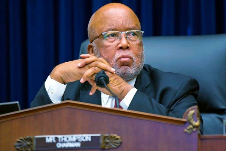 Committee Chairman Rep. Bennie Thompson, D-Miss., speaks during a House Committee on Homeland S ...