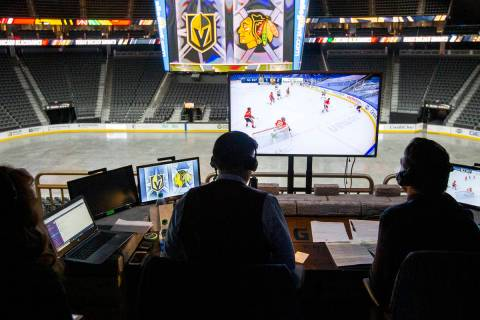 Instead of broadcasting the game inEdmontonwhere the Vegas Golden Knights played th ...