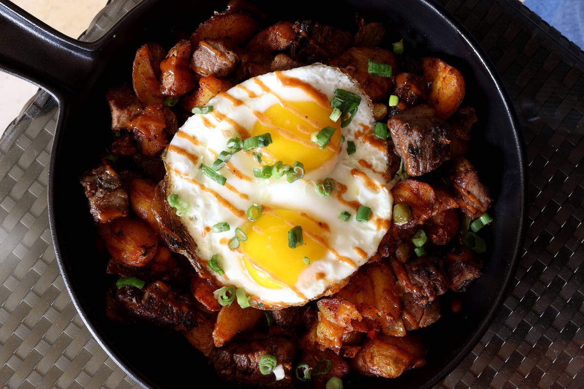 Prime Rib Hash from the new Lucky Penny Café menu at Red Rock Resort. (K.M. Cannon/Las Vegas R ...