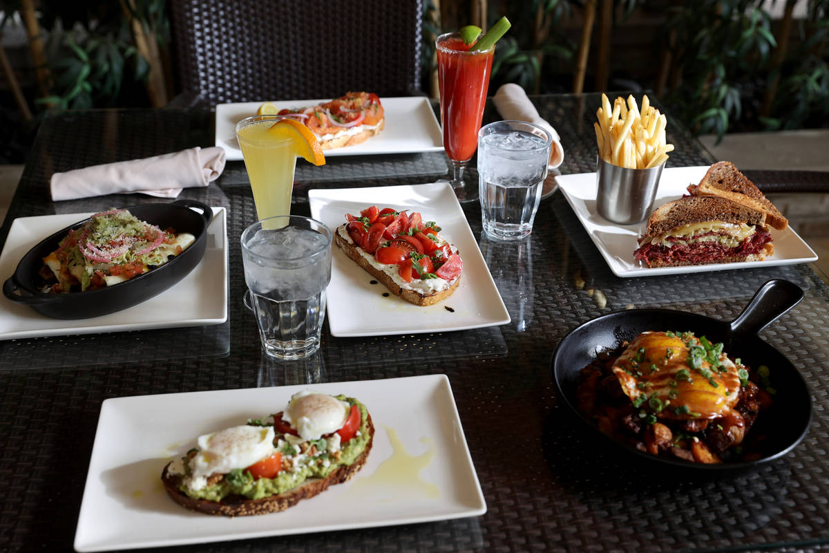 A selection of menu items from the new Lucky Penny Cafe menu at Red Rock Resort, including Prim ...