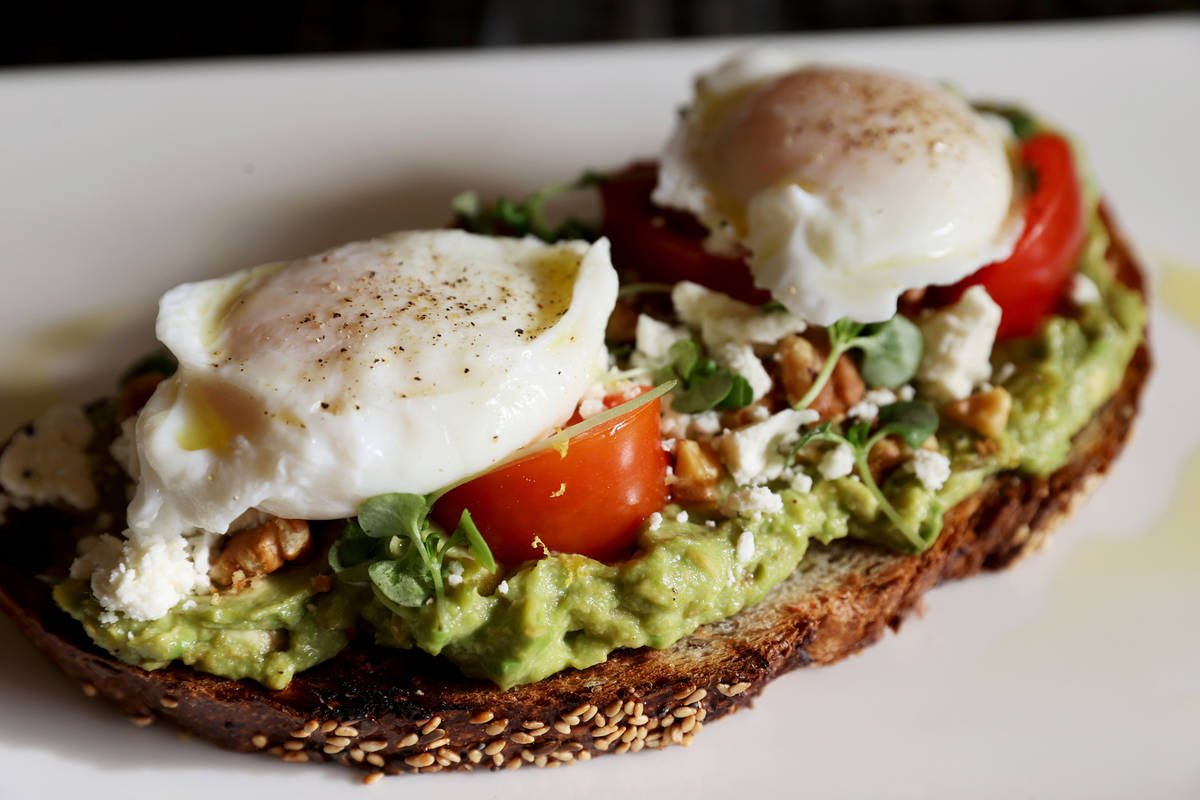 Avocado Toast at the new Lucky Penny Cafe at Red Rock Resort. (K.M. Cannon/Las Vegas Review-Jou ...