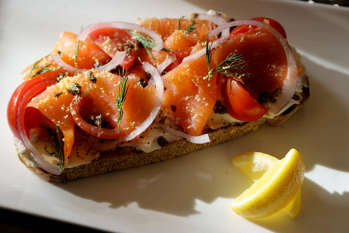 Salmon Toast at the new Lucky Penny Cafe at Red Rock Resort. (K.M. Cannon/Las Vegas Review-Jour ...