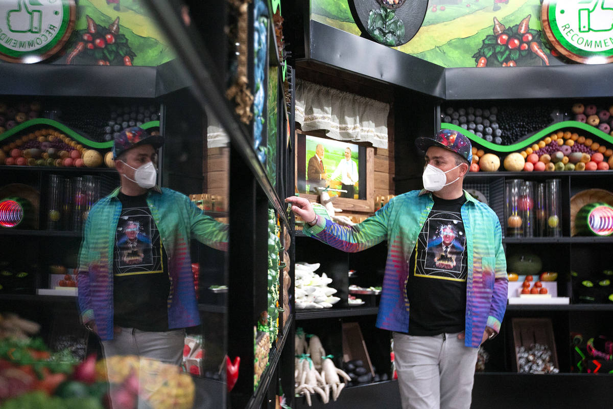 Corvas Brinkerhoff, executive creative director of Meow Wolf Las Vegas, shows the first part of ...