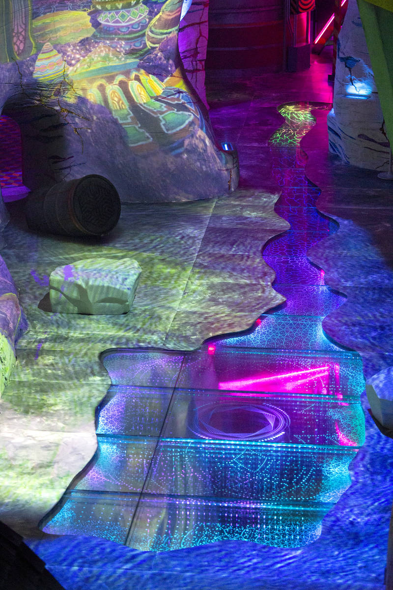 "A runoff stream of ""metaphysical, psychoactive industrial waste"" flows through the de ..."