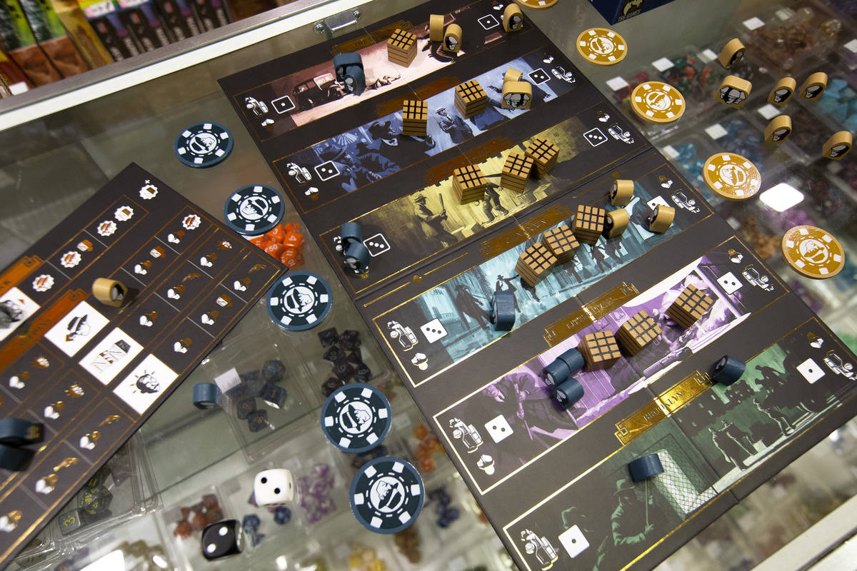 Mob Big Apple, a newly created board game, is displayed at The Gaming Goat on Wednesday, Feb. 1 ...