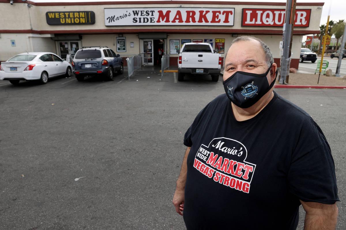 Mario Berlanga, Jr., president of Mario's Westside Market, at his Las Vegas grocery store Thurs ...