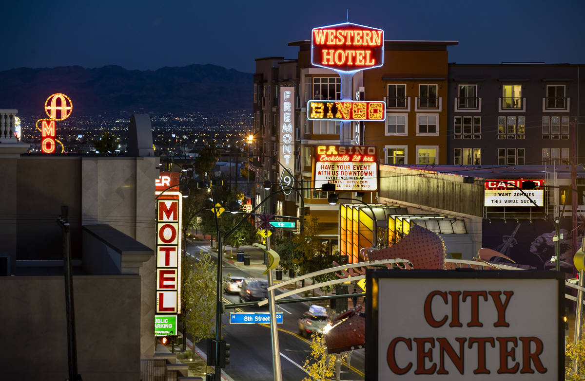 The former Western hotel-casino along Fremont Street on Tuesday, Dec. 1, 2020, in Las Vegas. (L ...