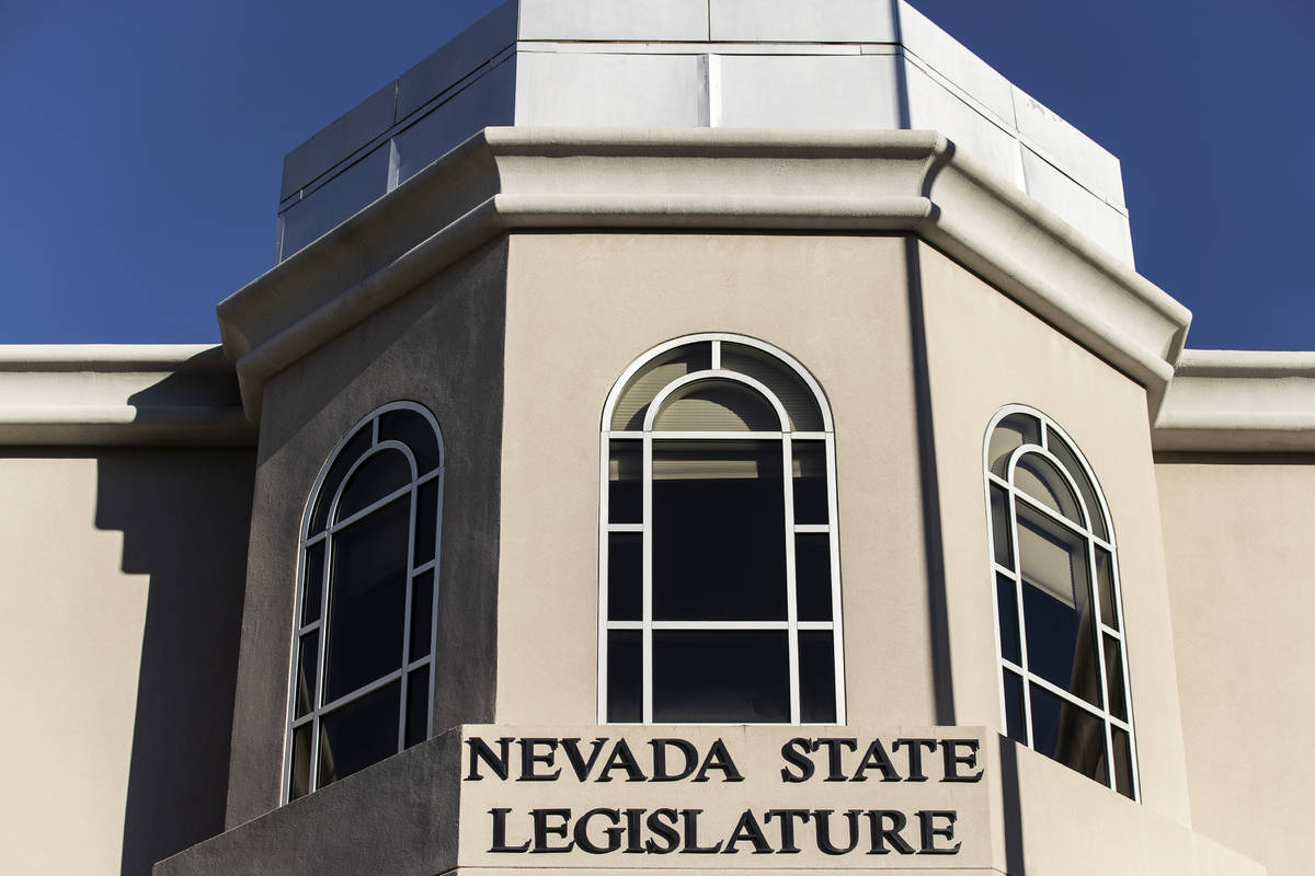 The Nevada State Legislature Building at the state Capitol complex on Jan. 17, 2021, in Carson ...