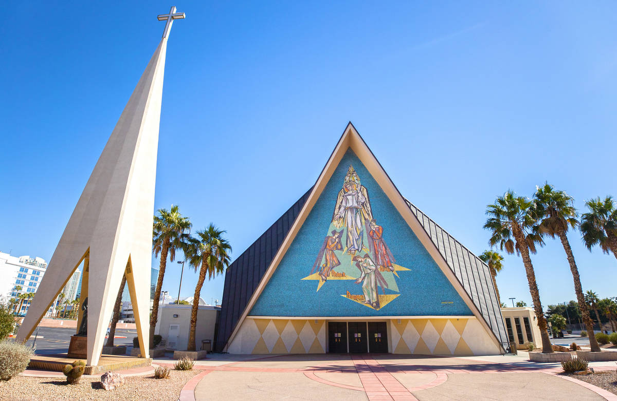 Guardian Angel Cathedral, designed by renowned African-American architect Paul Revere Williams, ...
