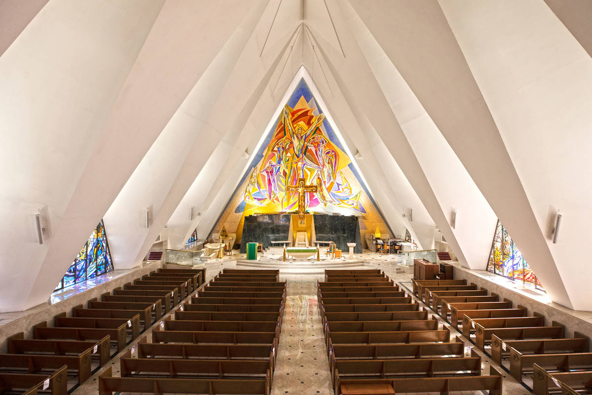 Guardian Angel Cathedral, designed by renowned African-American architect Paul Revere William, ...