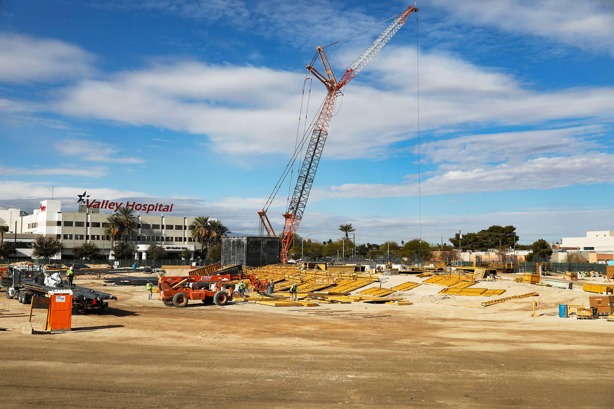 The site for the future medical education building for UNLV's School of Medicine in Las Vegas ...