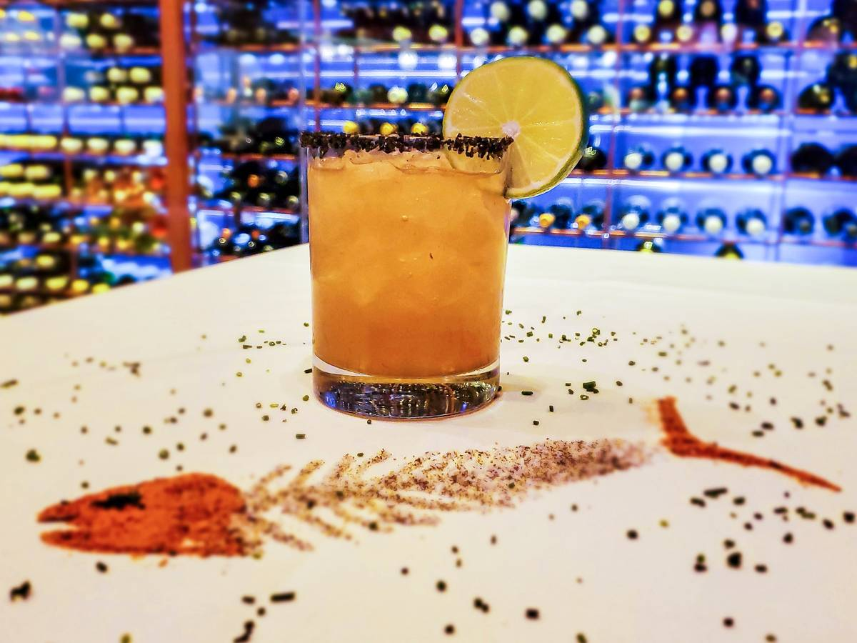 The Smoked Maple Margarita at Emeril's New Orleans Fish House at MGM Grand. (Emeril's)
