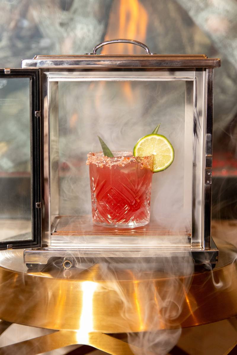 The Mojave Margarita at the Casbar Lounge, in its smoking chamber. (Sahara)