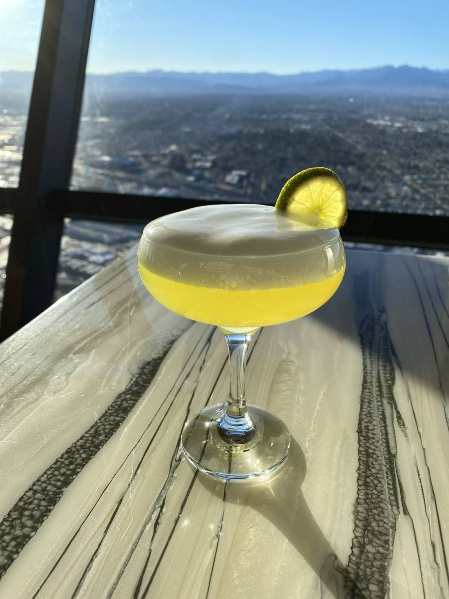 The Elevated Margarita at Top of the World. (The Strat)