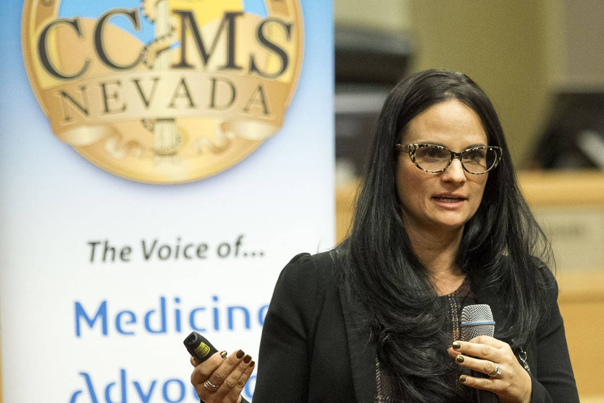 Julia Peek, community services deputy administrator for the Nevada Department of Health and Hum ...