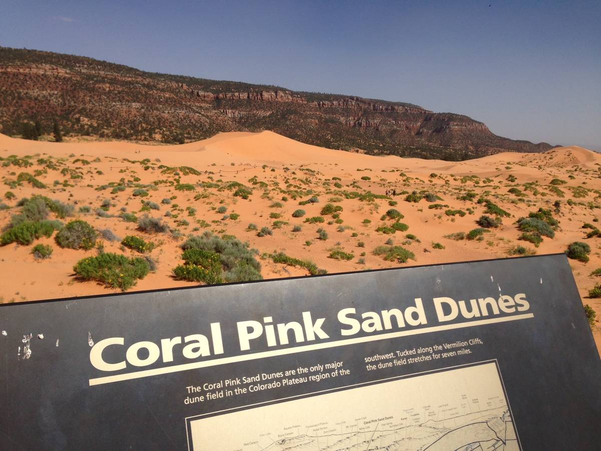Coral Pink Sand Dunes state park in Southern Utah. (Las Vegas Review-Journal)