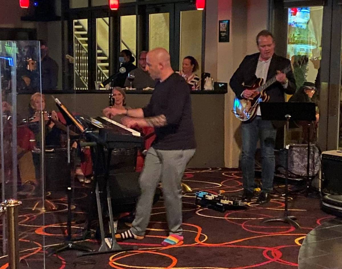 Martin Kaye and John Wedemeyer are shown at Tuscany Suites' Piazza lounge on Friday, Feb. 19, 2 ...