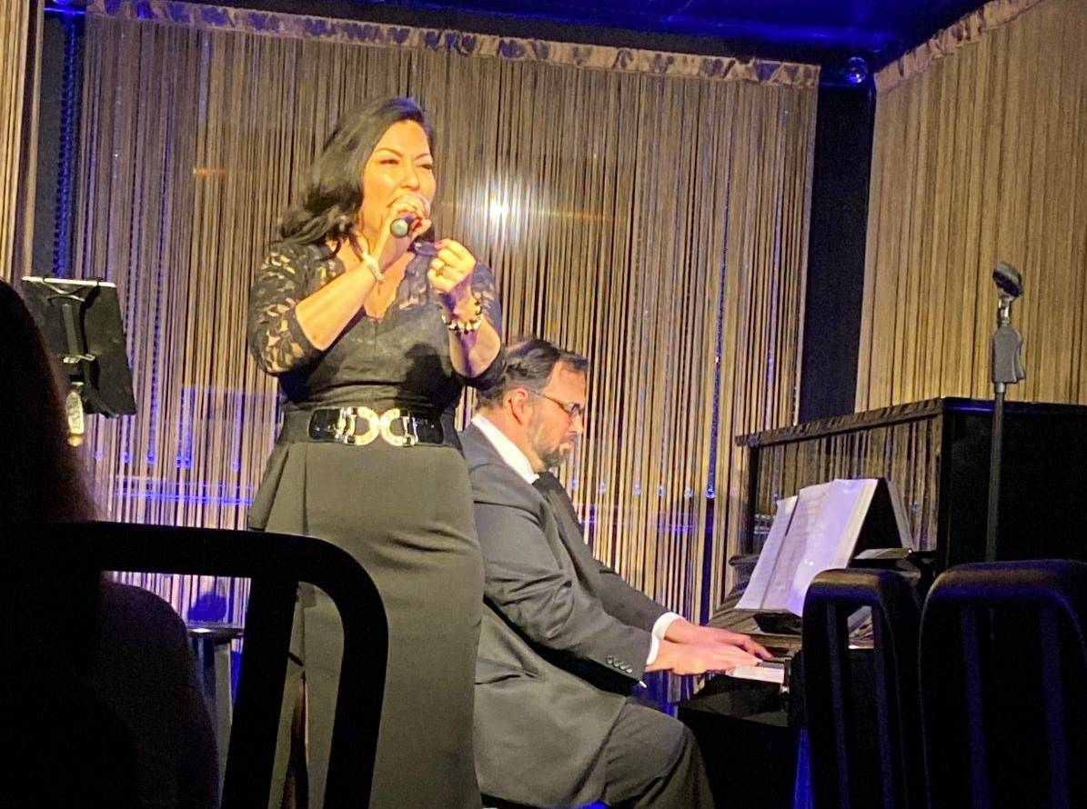 Christine Shebeck and Bill Zappia perform at The Vegas Room on Friday, Feb. 19, 2021. (John Kat ...