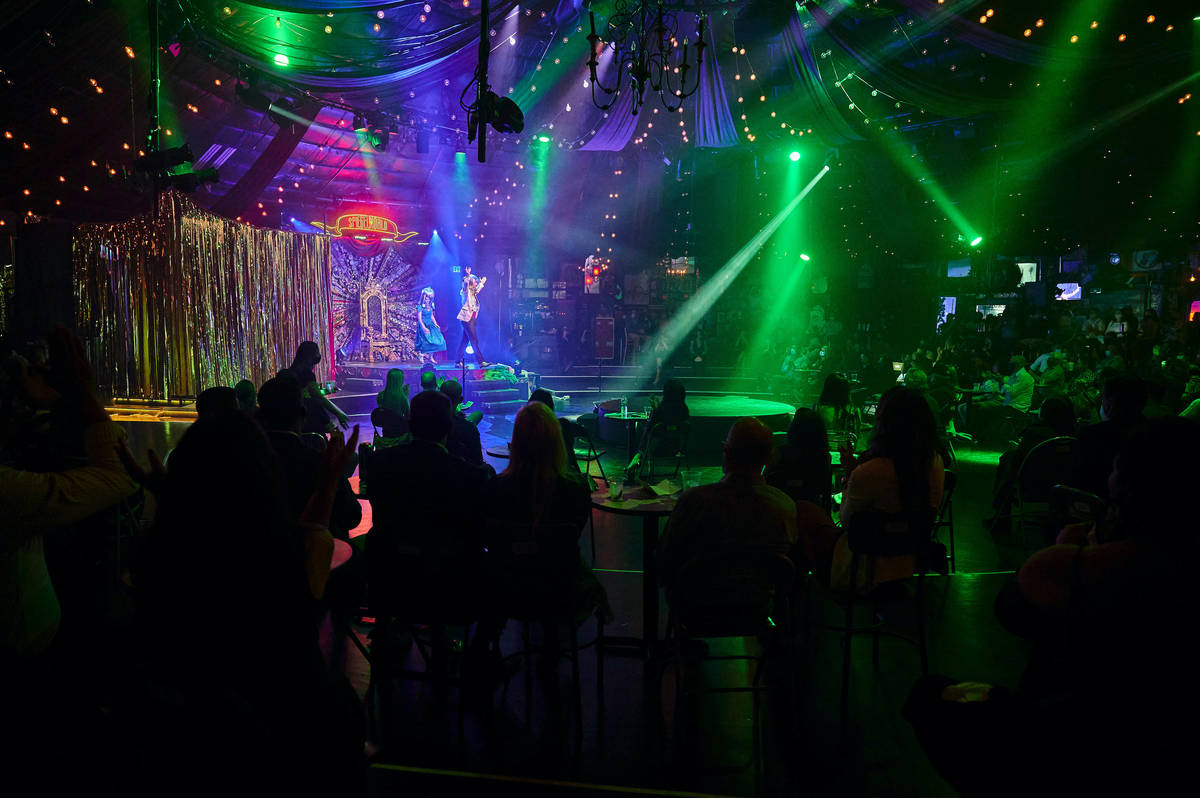 "The return of ""Absinthe"" at Caesars Palace is shown on Wednesday, Oct. 28,2020. (Spiegelworld)"
