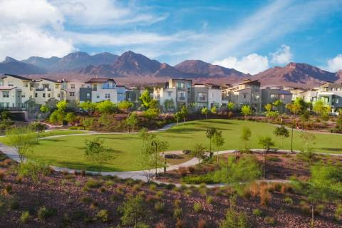 Affinity by Taylor Morrison, one of six neighborhoods in Summerlin offering condominiums or tow ...
