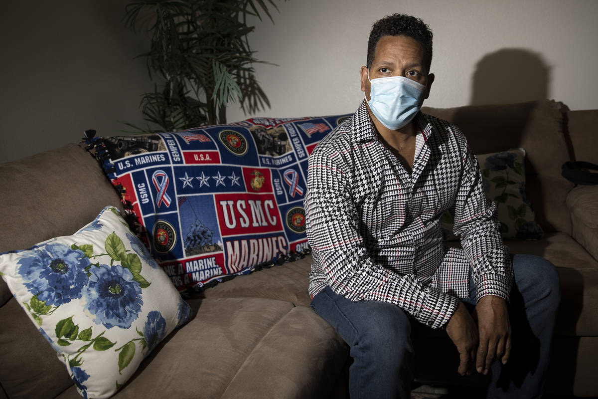 Ronald Pipkins, who was the first presumptive positive case of COVID-19 in Nevada, at his home ...
