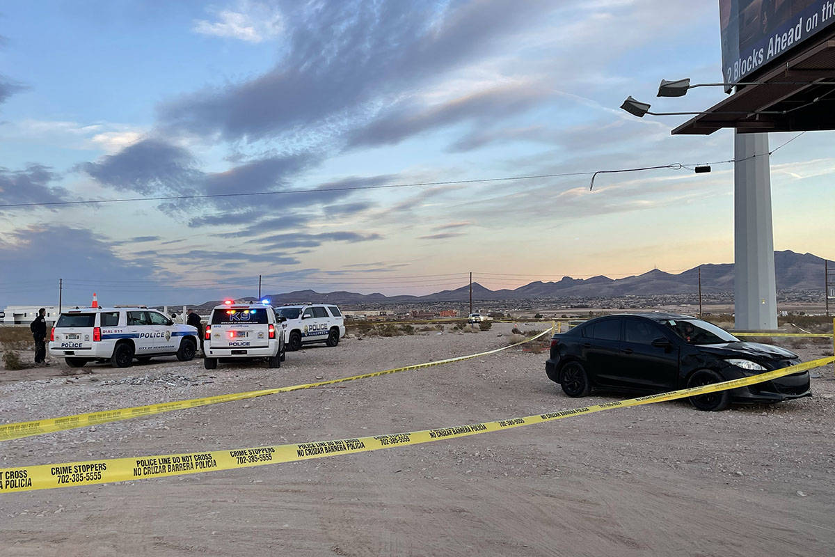 Henderson police are investigating a hit-and-run near the M Resort on Tuesday, Feb. 23, 2021. ( ...