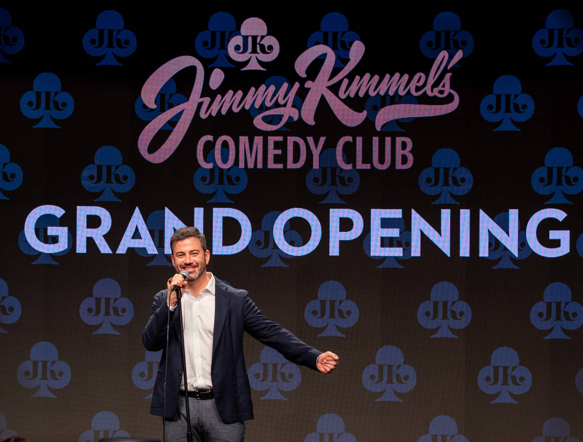 Jimmy Kimmel is shown at the grand opening of Jimmy Kimmel's Comedy Club at Linq Promenade on F ...