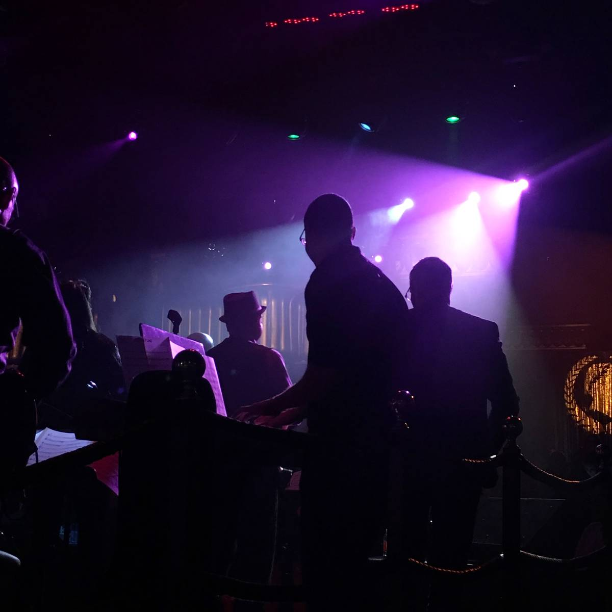 The lineup of David Perrico's Pop Strings during its opening show Saturday night at Cleopatra's ...