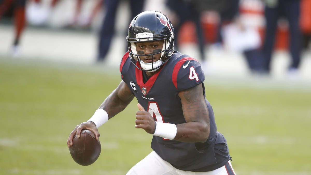 Houston Texans quarterback Deshaun Watson (4) in action during the second half of an NFL footba ...