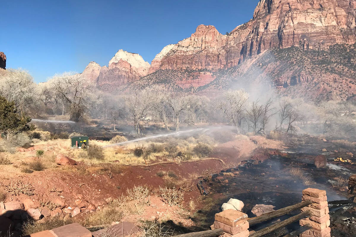 Fire Management Officials at Zion National Park confirmed a prescribed fire was contained Wedne ...