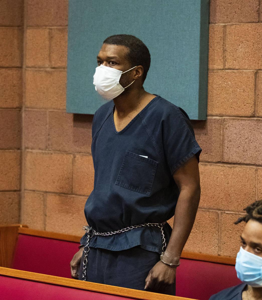 Willis Davis, who is accused of killing three teens in 1996, appears in North Las Vegas Justice ...
