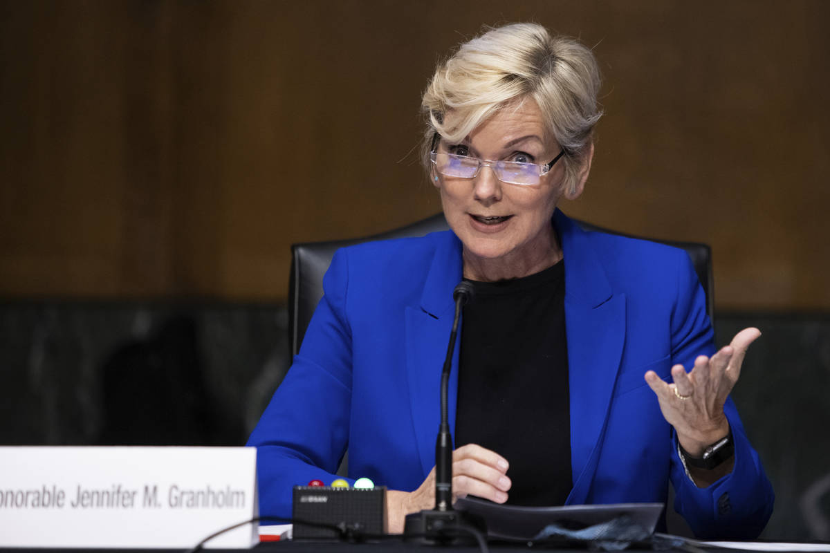 Former Gov. Jennifer Granholm, D-Mich., testifies before the Senate Energy and Natural Resource ...