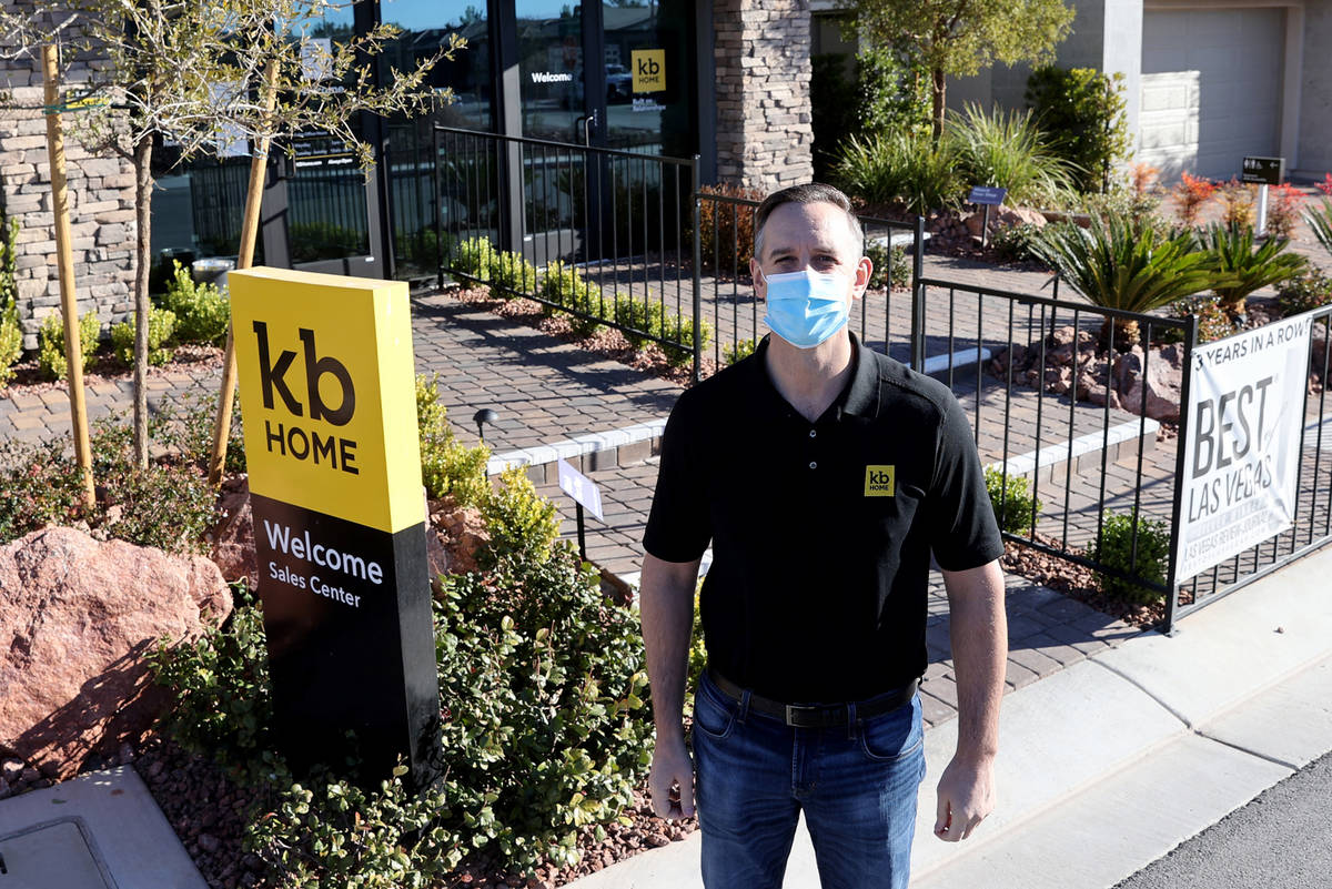 KB Home Division President and Regional General Manager Brian Kunec at the Sales Center in the ...