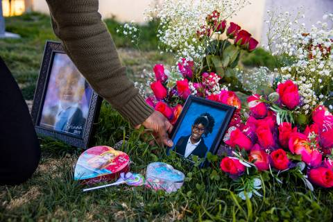 Brian Bradford visits the grave of his daughter, Briana Bradford, on Feb. 18, 2021, the two-yea ...