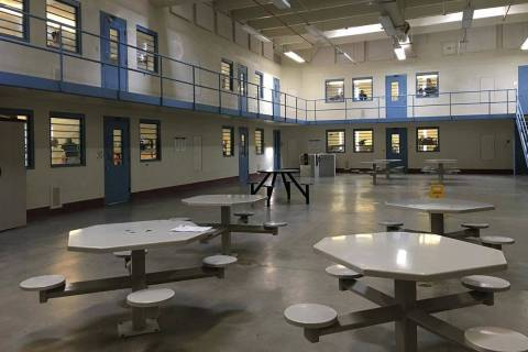 A recreational area for inmates is seen at Florence McClure Women's Correctional Center in the ...