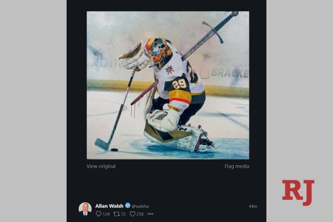 Goalie Marc-Andre Fleury's agent, Allan Walsh, took to Twitter to voice his displeasure over ...