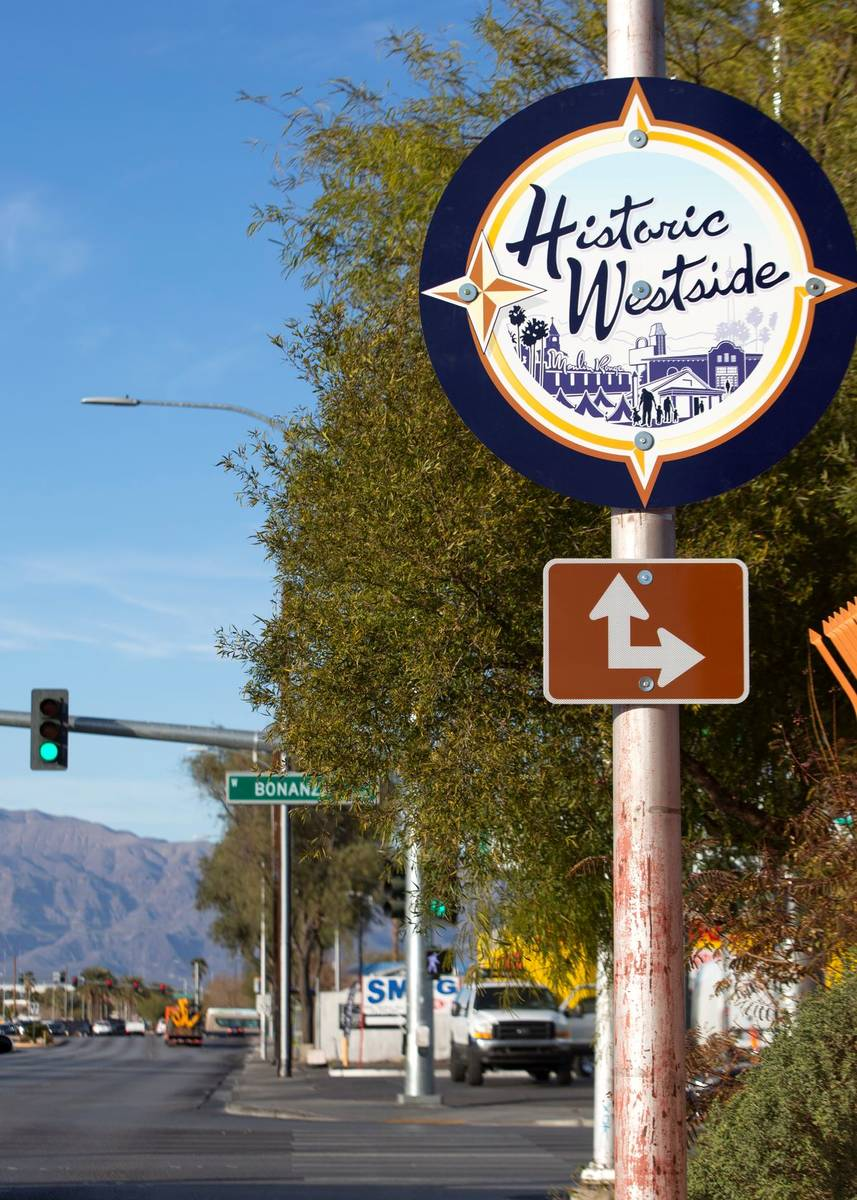 """Signs marking the """"Historic Westside"""" are present on Martin Luther King Boulevard near US95 on ..."""