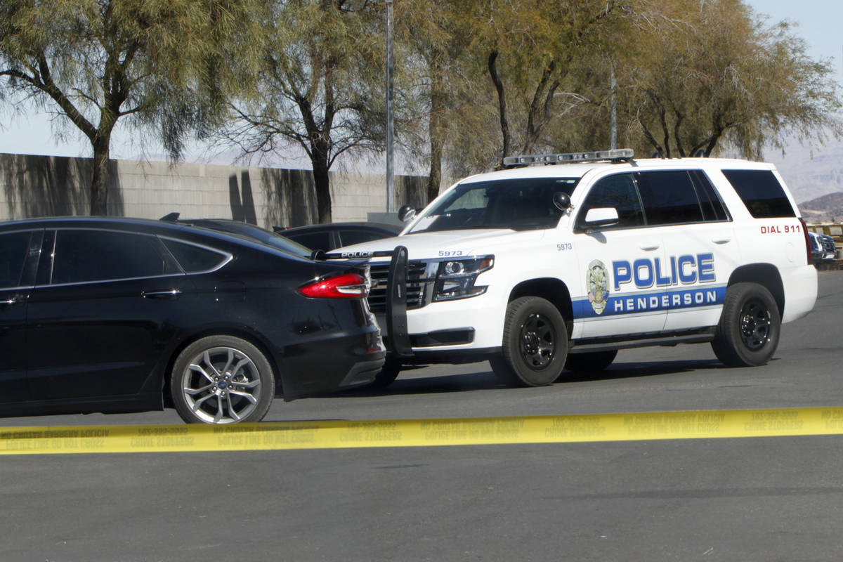 Henderson Police investigate the 400 block of North Boulder Highway in Henderson, Saturday, Feb ...