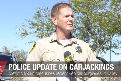 Update On Recent Carjackings and Burglaries
