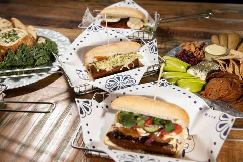 Vegan sandwiches and food platters from NoButcher. (Erik Verduzco/rjmagazine) @Erik_Verduzco