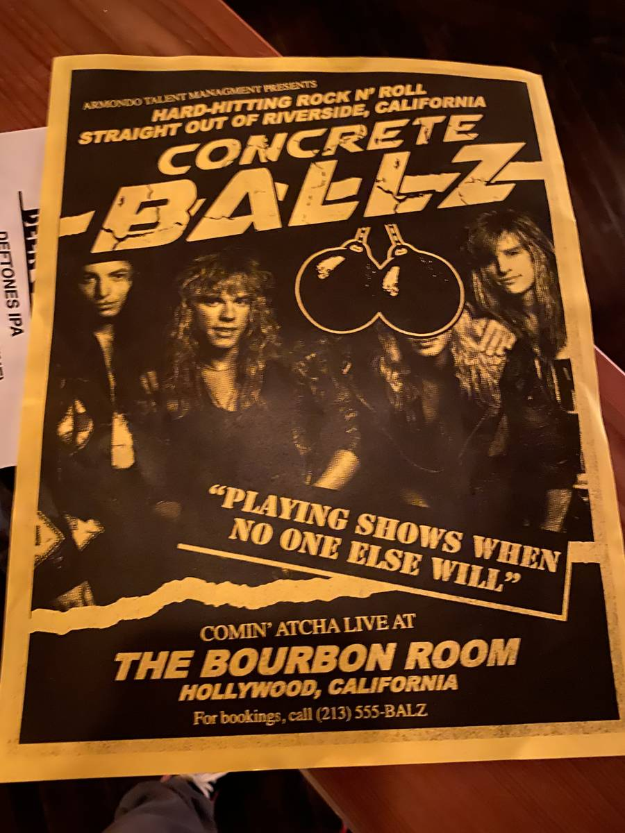 """A look inside the Bourbon Room, home of """"Rock of Ages,"""" in Hollywood on Wednesday, Jan. 15, 202 ..."""